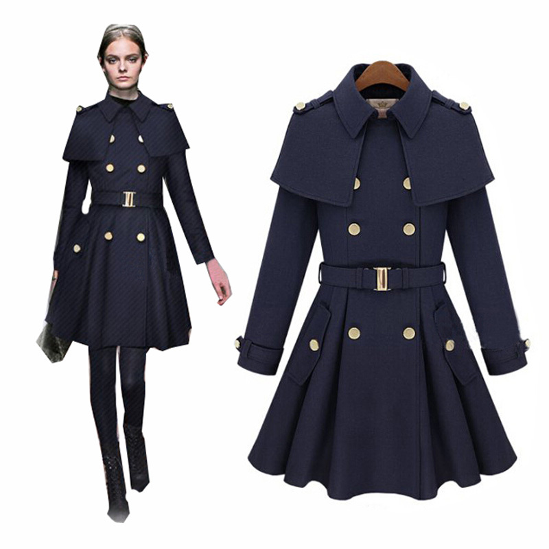 98a2c6e5883 2015 New Winter Coat Women Fashion Cloak Casaco Feminino Double-Breasted  Wool Blended Women Coat