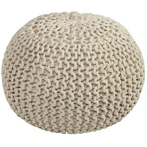 crochet knitted round pouf