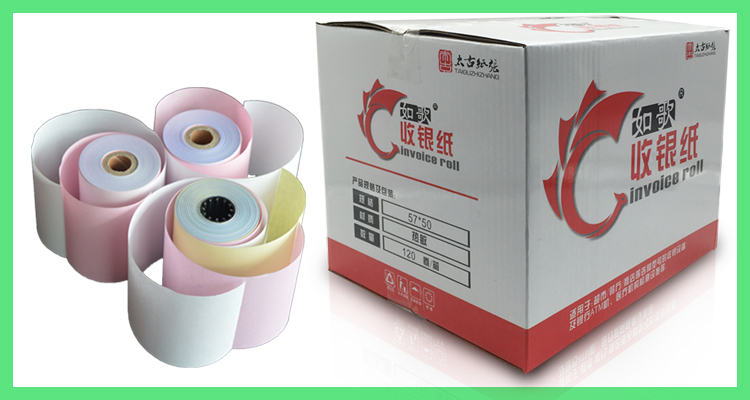 pepreinted ATM cash regiester POS roll thermal paper