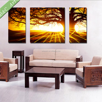 High Quality Sunset Natural Wall Art Painting Landscape Print Fabric