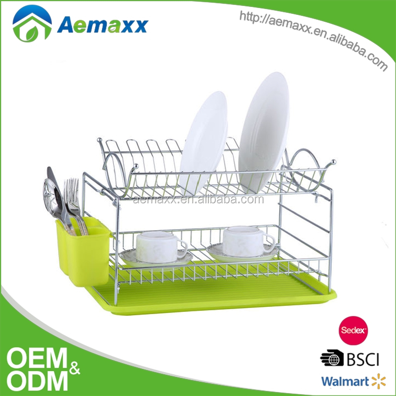 2017 home kitchen set stainless steel dish rack