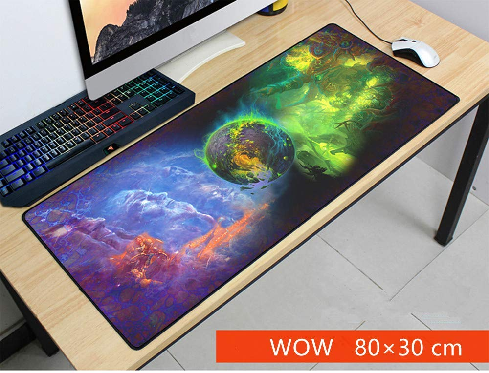 Mouse Pad,Professional Large Gaming Mouse Pad, World of Warcraft Mouse Pad,Extended Size Desk Mat Non-Slip Rubber Mouse Mat (6, 800 x 300 x3 mm / 31.5 x 11.8 x 0.12 inch)