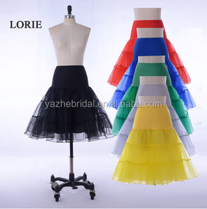 15 Colors-Hot Sale Short Petticoat For Wedding A Line Vintage Tulle Crinoline Underskirt Rockabilly Swing Tutu Skirt Slip