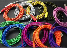 Colorful Phone Charging Cord , Noodle Charger Cable for samsung s4 android phone 3FT/6FT/10FT