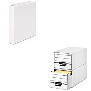 KITFEL00721UNV20962 - Value Kit - Bankers Box Stor/Drawer File Drawer Storage Box (FEL00721) and Universal Round Ring Economy Vinyl View Binder (UNV20962)