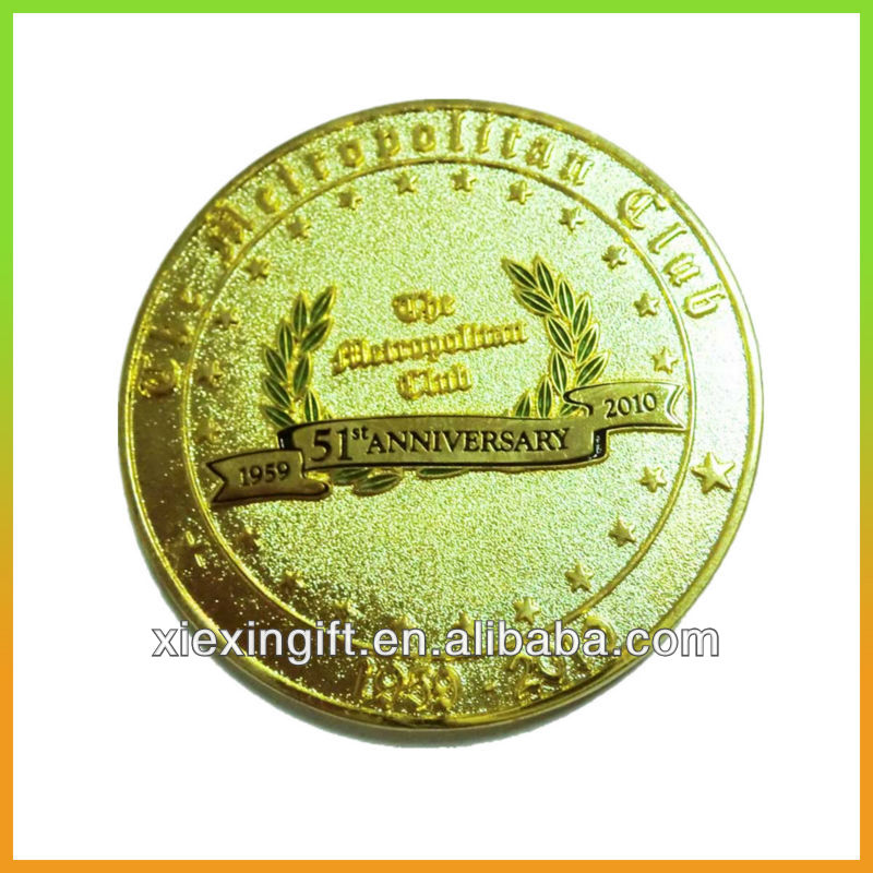 Folr art gold metal coin