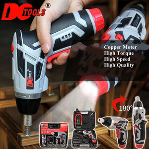 46PCS/SET 3.6V Cordless Electric screwdriver S with lithium battery Rechargeable multi-function power tools