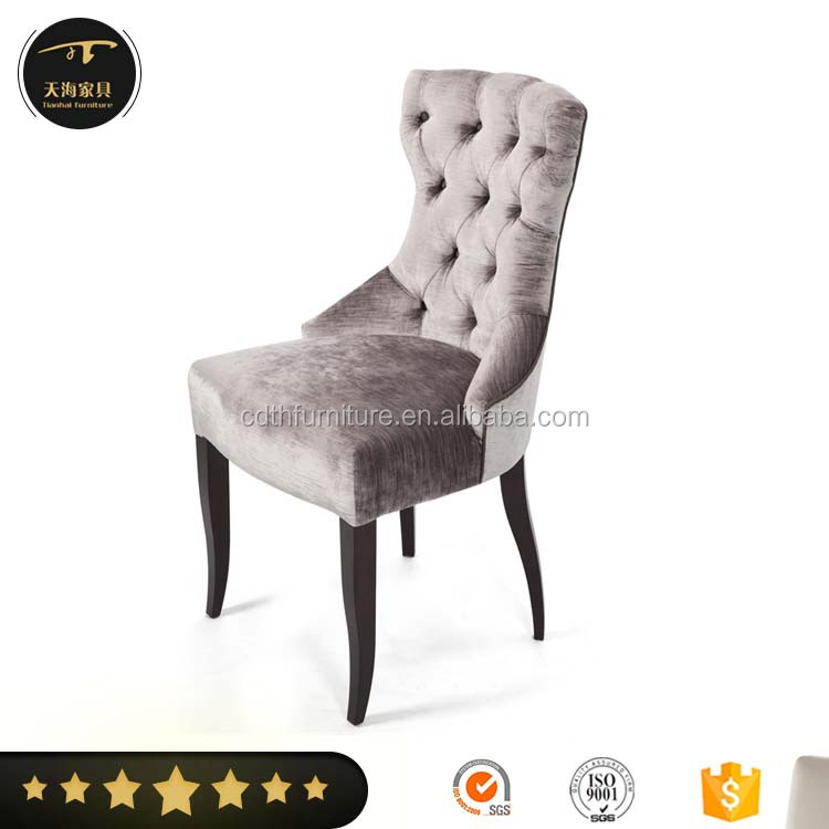 Hotel polished gold stainless steel dining chair