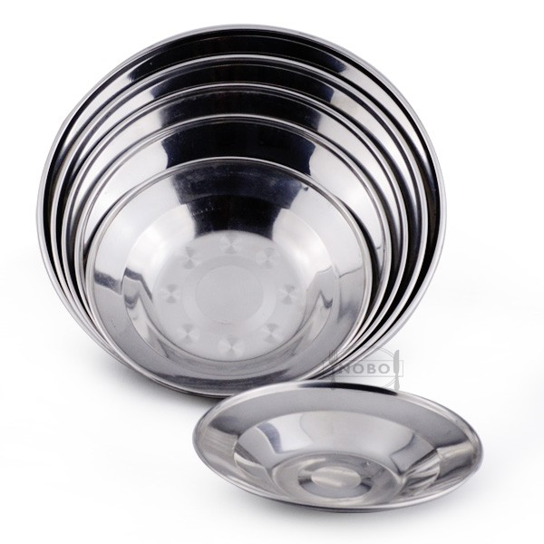 Stainless steel plate stand round dinner plate