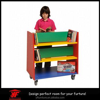 low priced 1a85b 0b4ba Small Size Mobile Storage Rack Kindergarten Children Book Shelf For Kids -  Buy Book Shelf For Kids,Pictures Of Book Shelf,Children Book Shelf Product  ...