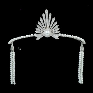 Chief Indian Pageant Crowns with High Quality Cubic Zircon Pearl Beads