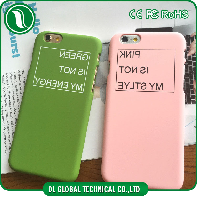 Modern character phone case matte PC case with English letter pattern cover case for iphone 5 for iphone 6