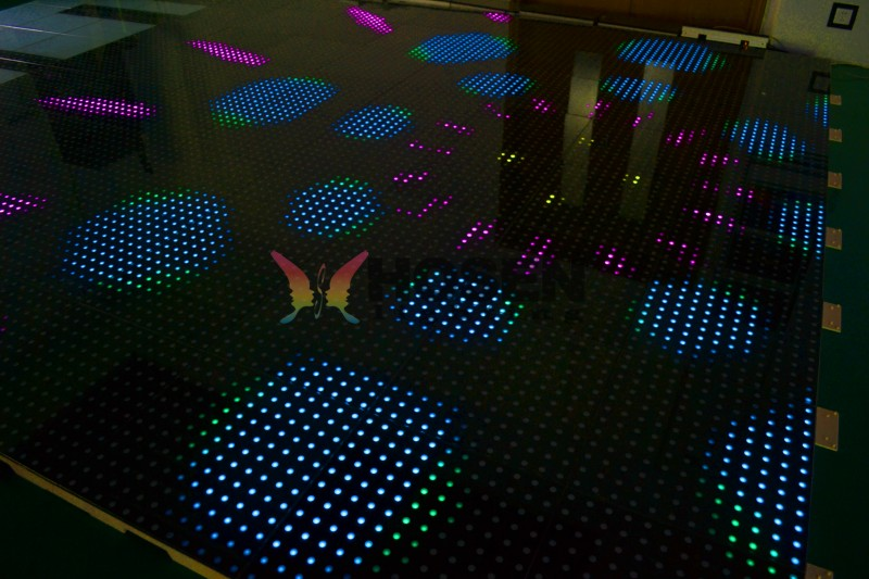 Interactive sensitive led dance floor