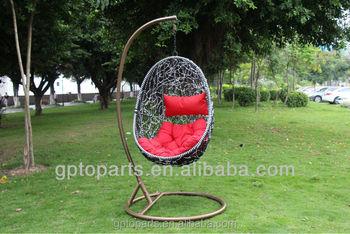 Wholesale Egg Chaped Swing Hammock Chair Swing Chair Hanging Pod Chair  Rattan Hanging Egg Swing Chair