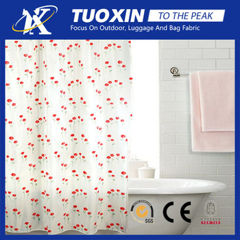 Waterproof Pongee Fabric For Shower Curtain Ethnic Printing