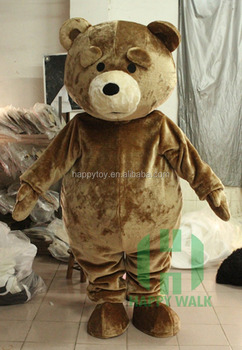 151a2d412f6 Factory Custom Made Brown Teddy Mascot Costume