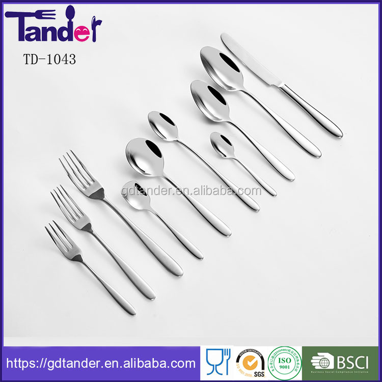 Tander s/s 304,201,430 flatware blanks 5 star hotel cutlery set stainless steel hotel cutlery