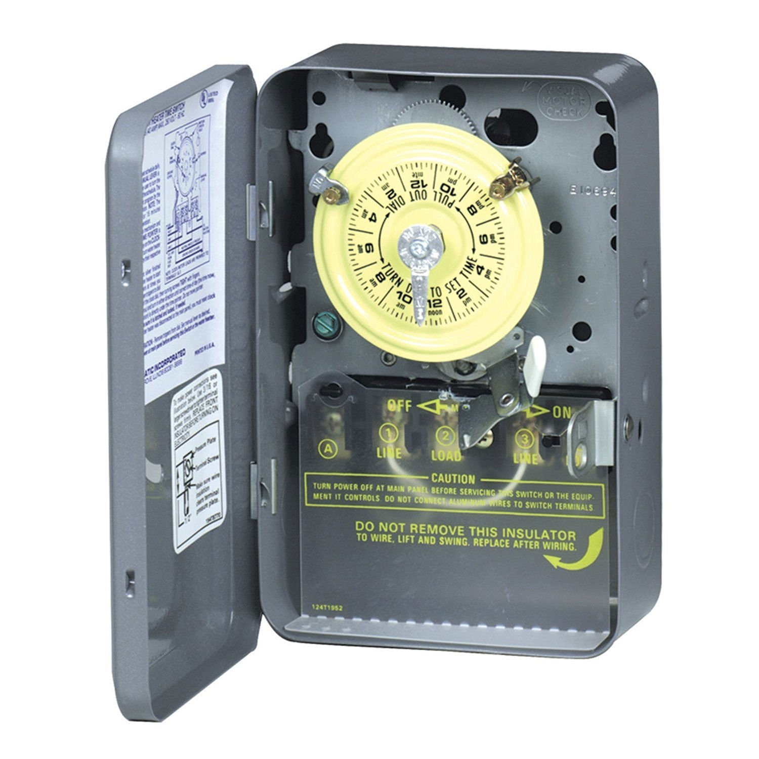 Get Quotations · Intermatic WH40 24 Hour 208-277 V Mechanical Indoor Water  Electric Heater Timer /#