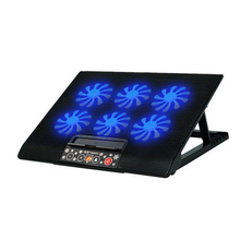 Laptop Cooling Pads The LCD panel adjustable speed USB interface cooler notebook stand laptop cooling pad radiator Six big fan