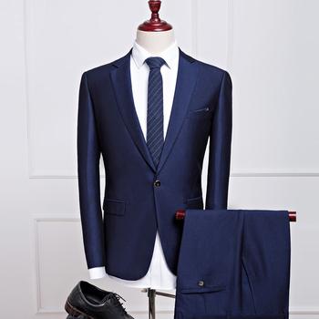 2016 New Autumn Wedding Men Navy Blue Suits - Buy Wedding Best Man ...
