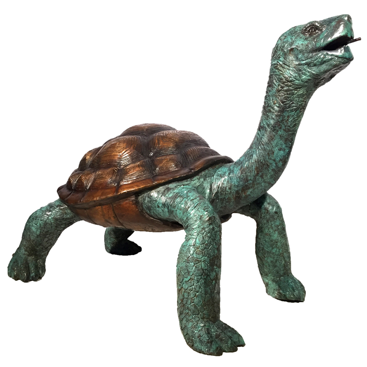 Garden Decoration Large Size Bronze Galapagos Turtle Statue