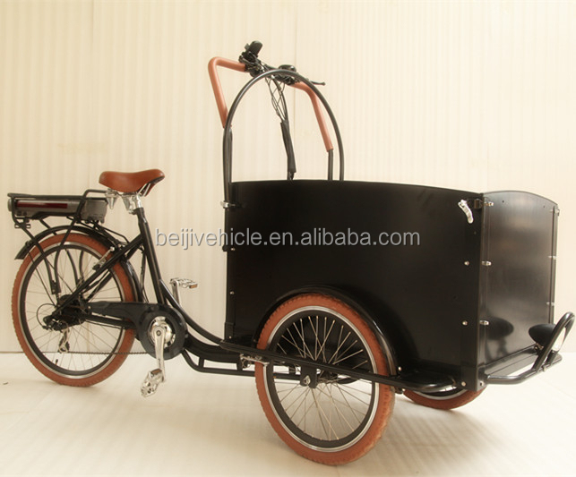 hollande style v lo cargo avant bo te v lo lectrique 3 roues lectrique tricycle chariot v lo. Black Bedroom Furniture Sets. Home Design Ideas