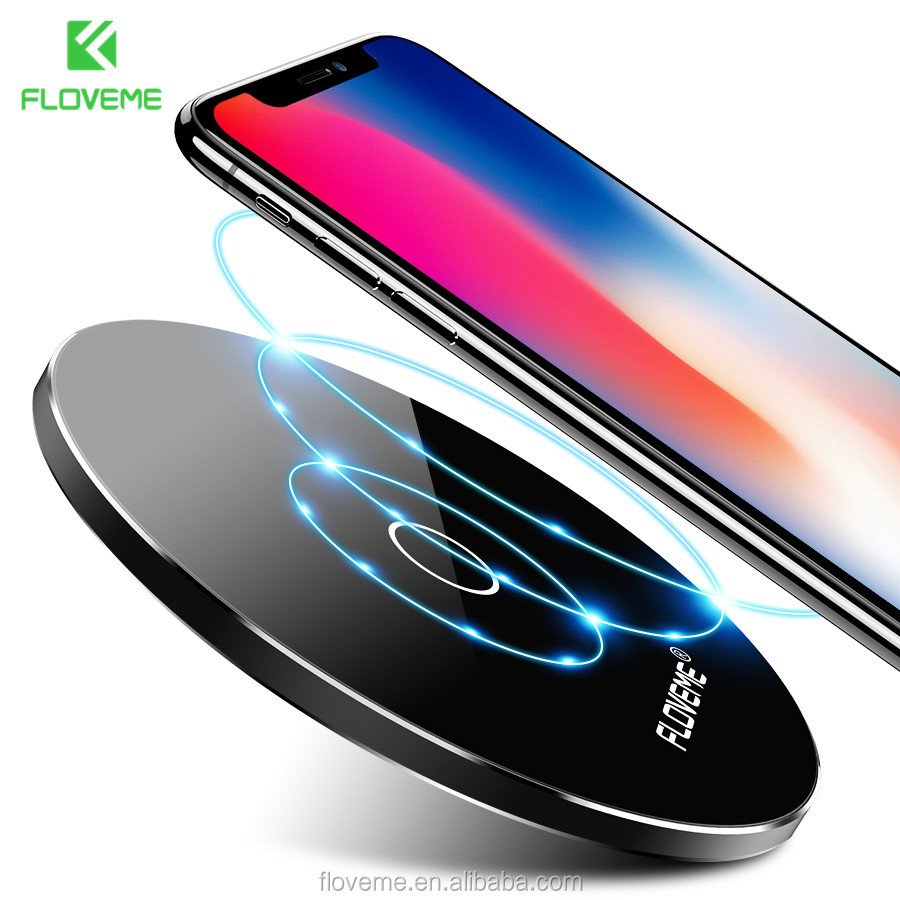 FLOVEME Free Shipping Portable travel qi wireless desk charger wireless charger dock ultra thin wireless charger