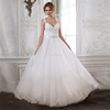 New arrival appliqued beaded puffy princess free shipping cheap 2015 wedding dress CWFw2015