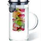 Durable 1L glass infusion water pitcher with lid