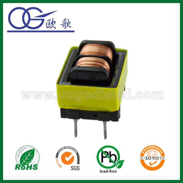 Mn-Zn PC40 ferrite core EE8.3 double slot transformer,120v 12v transformer