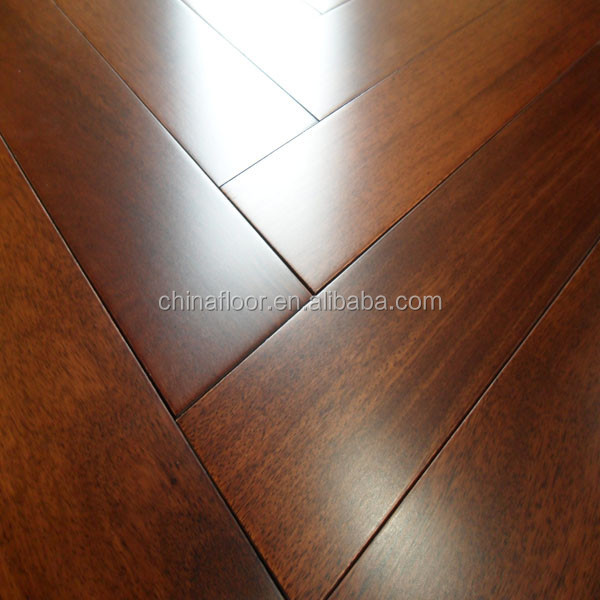 UV varnished prefinished classical A grade Indonesian Merbau solid wood flooring