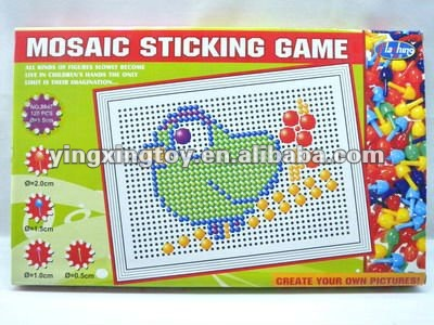 funny plastic jigsaw puzzle toy,mosaic sticking game