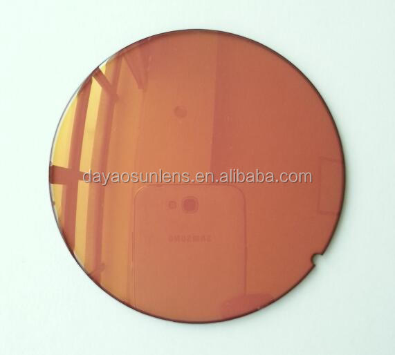 75 2C R15167-S light gold red mirror lens