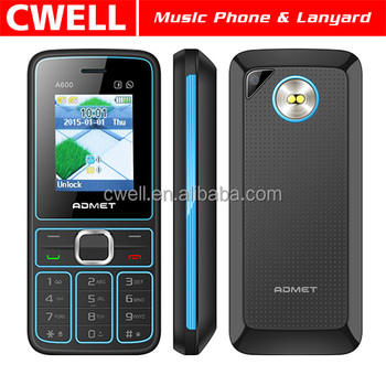 ADMET A600 Low Price Mobile Phone With Lanyard Dual SIM Card 177 Inch TFT Screen FM