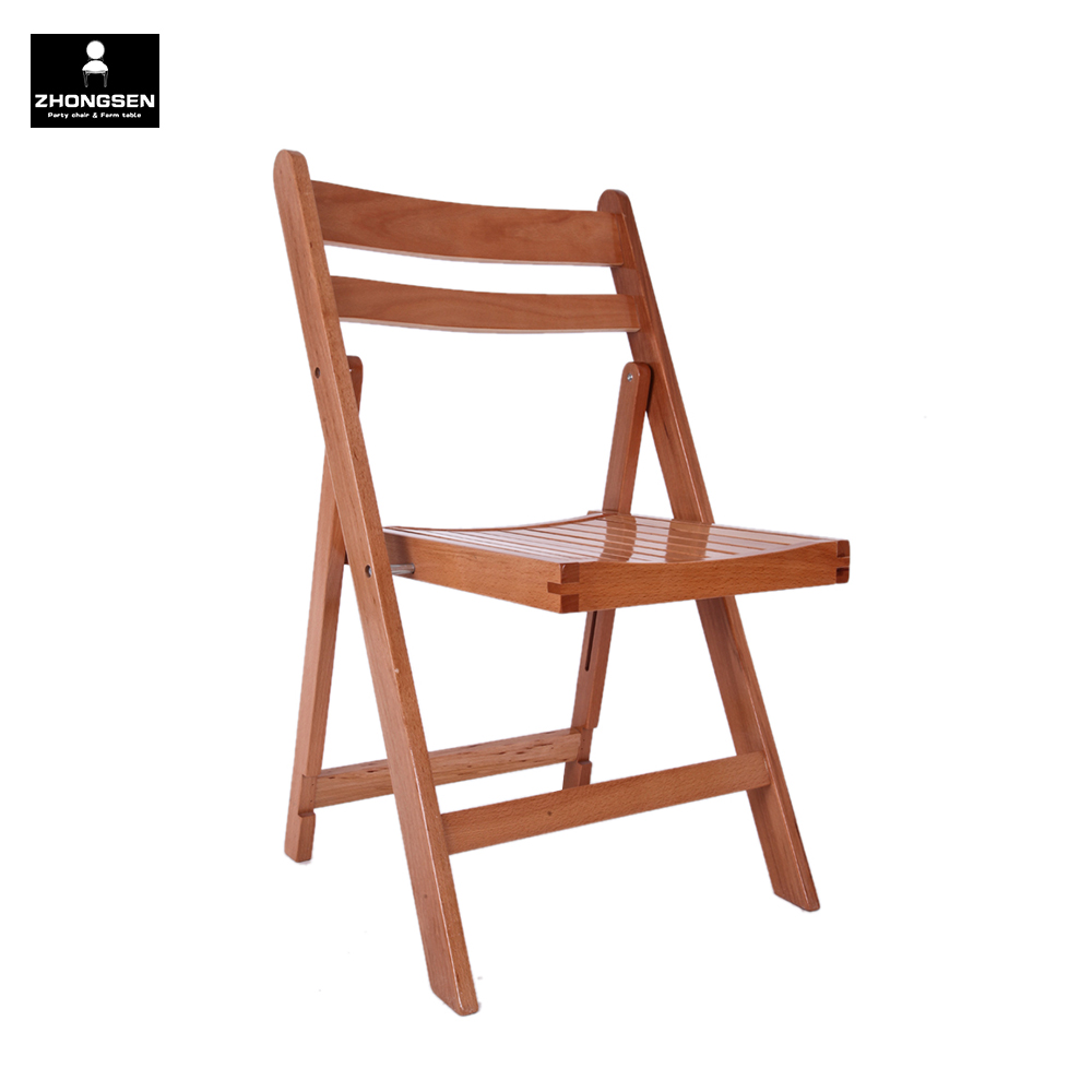 Foldable Stackable Wooden Folding Chair