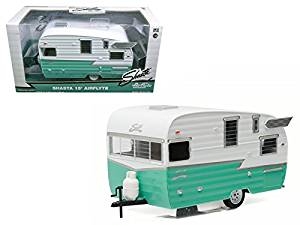Shasta Airflyte 15' Camper Trailer Green for 1/24 Scale Model Cars and Trucks 1/24 Model by Greenlight