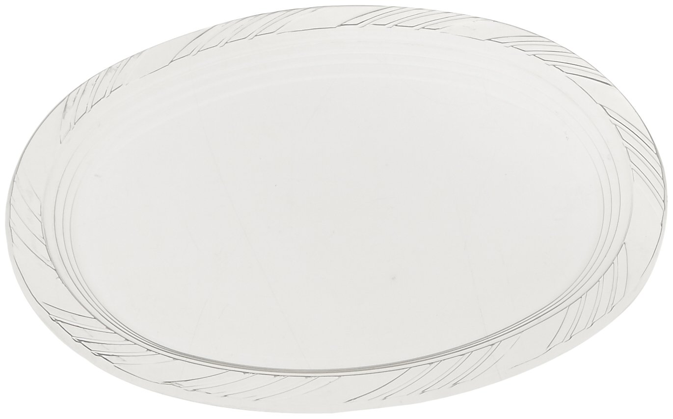 """Blue Sky 10 Count Heavyweight Plastic Oval Platters, 9"""" x 12"""", Clear"""
