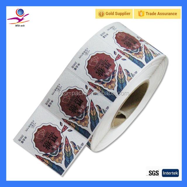 Custom printing paper die cut sticker china