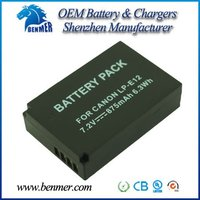 Digital camera battery pack LP-E12 LPE12 for CANON EOS M