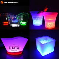 factory price rechargeable led lighting barware smirnoff ice bucket