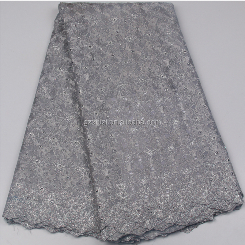 Newest African Bridal Lace Fabric Wholesale XZLACE Nigeria Wedding Swiss Embroidery Cotton Voile Lace Fabric