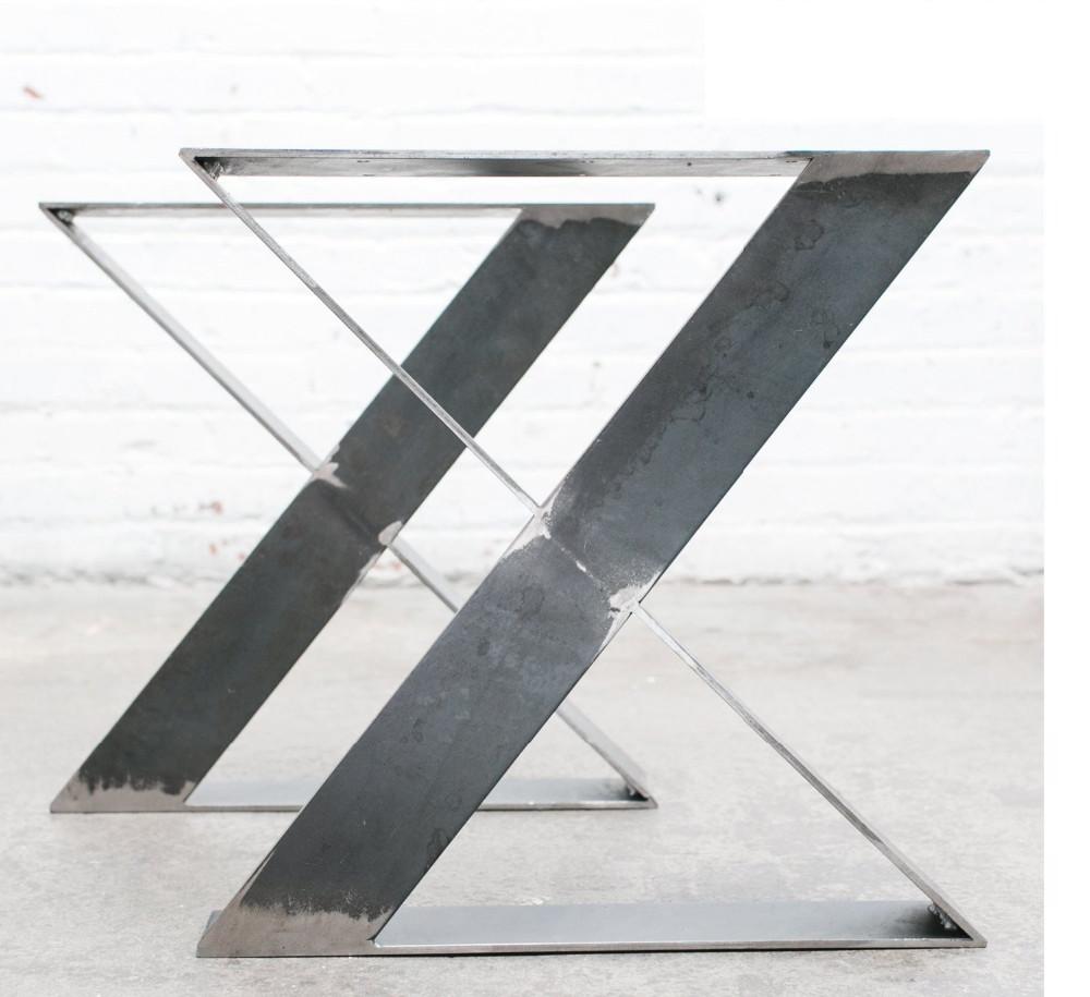 16 zoll flachstahl zx metall holz tischbein, eisen tisch basis, Esstisch ideennn