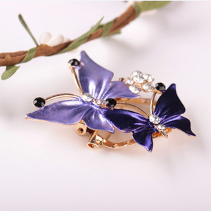 New Korean fashion wild color butterfly shaped jewelry accessories creative Exquisite diamond alloy brooch accessories