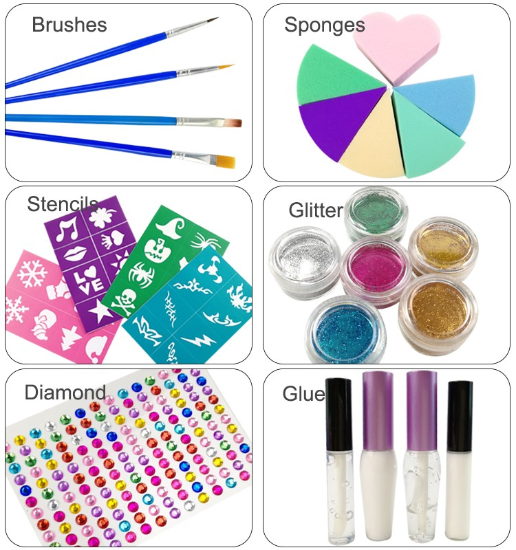 Uv face paint DIY Non-toxic Body Painting custom colors kid face paint for Halloween Party