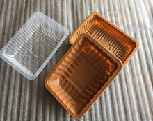 Customized Free Sample Fresh Meat Packing Stackable Large Shallow Plastic Tray
