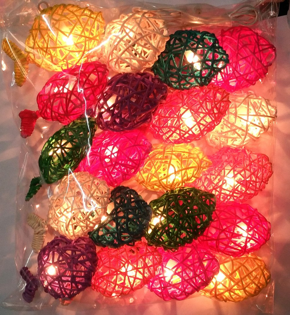 3m 20led String Light Thailand White Orange Rattan Ball Sepak Takraw Garlands For Hotels Bar Wedding Xmas Party Room Decoration Lights & Lighting