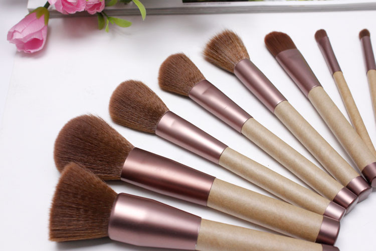 natural hair good price professional makeup brush sets