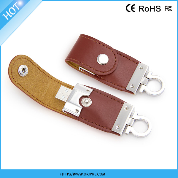 Factory price Full Capacity leather usb 1tb memory stick customzied Logo