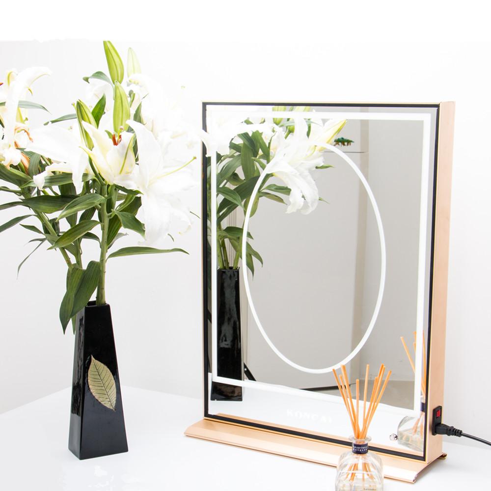 Professionele verlichting make up spiegel salon spiegel staande spiegel met aluminium frame en - Spiegel salon ...