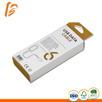 USB Data cable paper box custom packaging box retail individual package